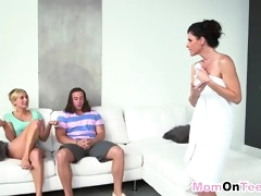 mom india summer teaches her daughter kate england and her boyfriend how to have sex