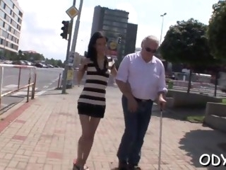 young slut makes old guy happy